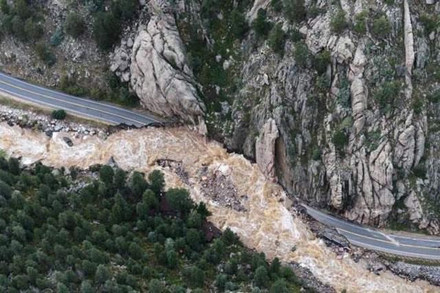 Highway 34, scoured to bedrock